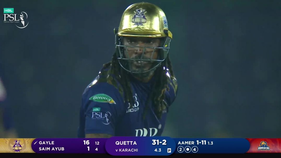Gladiators All Out For 121 - 1st Inning Highlights - Karachi vs Quetta - HBL PSL 6 - Match 1