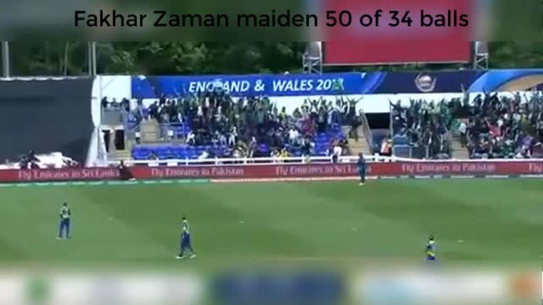 Fakhar Zaman maiden 50 of 34 balls