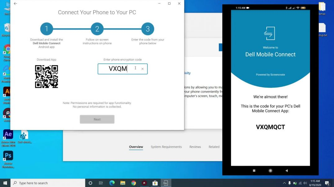 Dell Mobile Connect with Laptop - App not compatible with this device - Riz App Studio